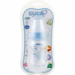 Mamadeira Kuka natural color orto tam. 1 azul 160 ml Ref.7134