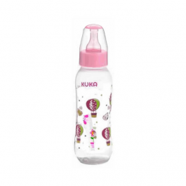 Mamadeira Kuka natural color tam.2 rosa 250 ml Ref.6749